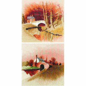 By The Canal & Lock Keeper's Cottage Duo Cross Stitch Kits
