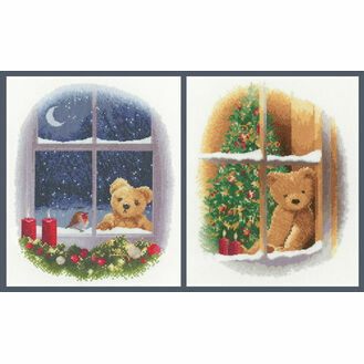 William & Robin and William At Christmas Set of 2 Cross Stitch Kits