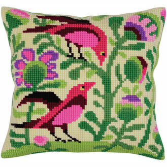 Birds Of Paradise 1 Cross Stitch Cushion Panel Kit