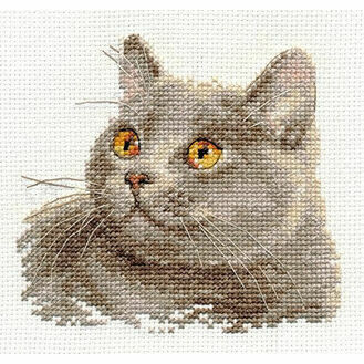 British Cat Cross Stitch Kit