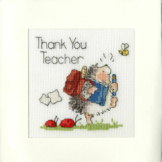 Schools Out Cross Stitch Card Kit