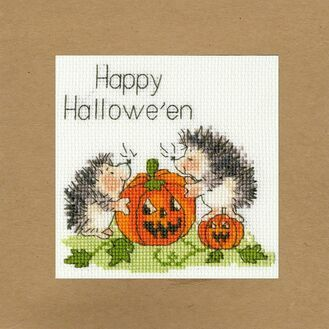 Jack O\'Lantern Cross Stitch Card Kit