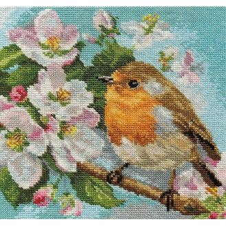 Robin & Blossom Cross Stitch Kit