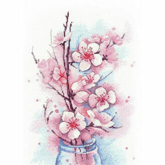 Apple Blossom Cross Stitch Kit