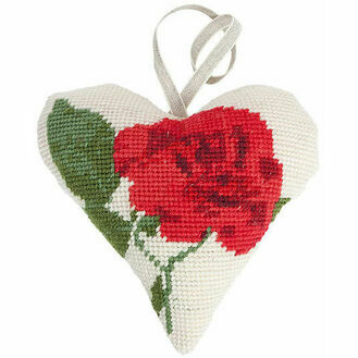 Rose Lavender Heart Tapestry Kit