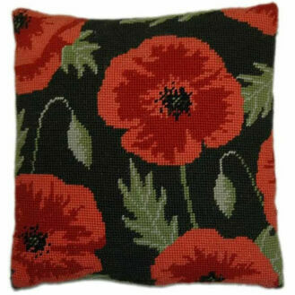 Wild Poppy Herb Pillow Tapestry Kit