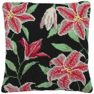 Stargazer Lily Herb Pillow Tapestry Kit