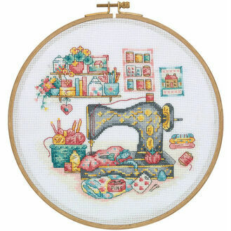 The Sewing Box Cross Stitch Hoop Kit