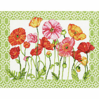 Poppy Pattern Cross Stitch Kit
