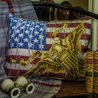 Stars & Stripes Cushion Panel Needlepoint Kit