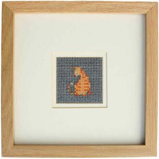 Moggie The Cat Mini Beadwork Embroidery Card Kit