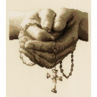 Praying Cross Stitch Kit