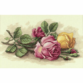 Rose Cuttings Cross Stitch Kit