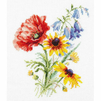 Bouquet With Poppy Cross Stitch Kit