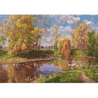 Autumn Pond Cross Stitch Kit