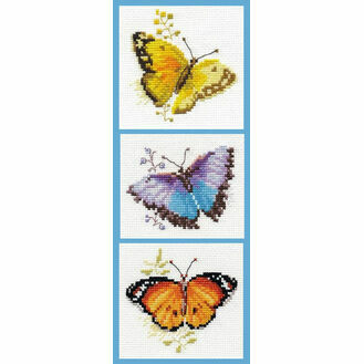 Butterfly Bonanza Cross Stitch Kit (Set of 3)
