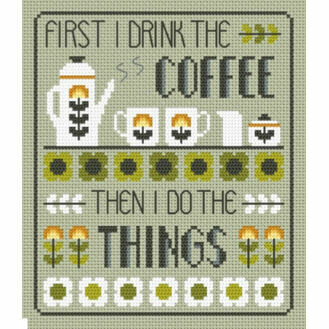 Coffee First Cross Stitch Kit