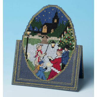 Christmas Carols 3D Cross Stitch Card Kit