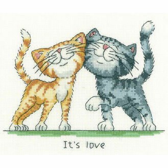 It's Love Cross Stitch Kit