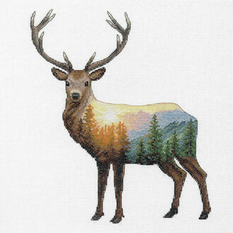 Deer Scene Cross Stitch Kit