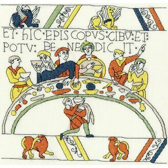 Bayeux Tapestry: The Bishop\'s Feast Cross Stitch Kit