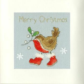 Step Into Christmas Cross Stitch Card Kit
