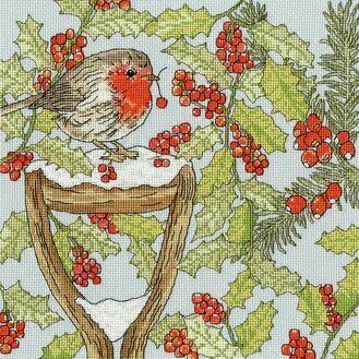 Christmas Garden Cross Stitch Kit