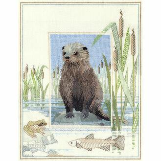 Wildlife - Otter Cross Stitch Kit