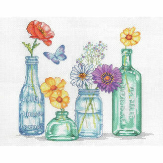 Wildflower Jars Cross Stitch Kit