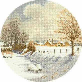 Winter Sheep Cross Stitch Kit