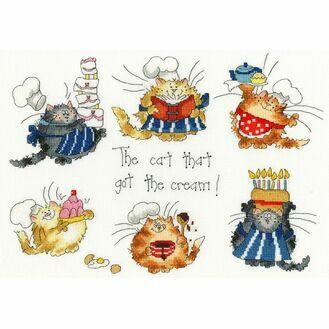 The Cat That Got The Cream Cross Stitch Kit
