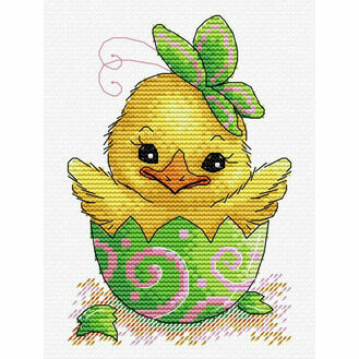 Easter Chick Cross Stitch Kit