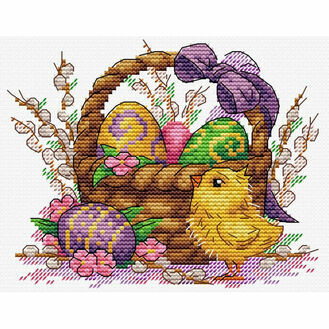 Easter Basket Cross Stitch Kit