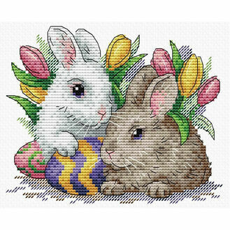Easter Friends Cross Stitch Kit