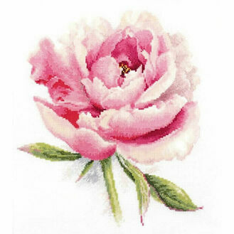 Gentle Peony Cross Stitch Kit