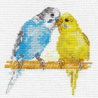 Budgies Cross Stitch Kit