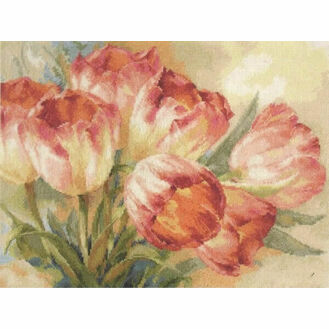 Tulips Display Cross Stitch Kit
