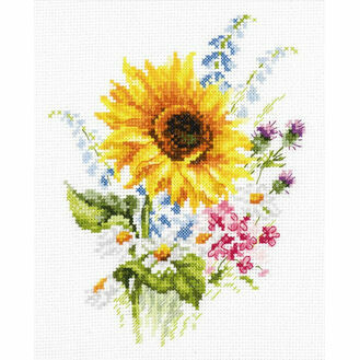 Bouquet With Sunflower Cross Stitch Kit