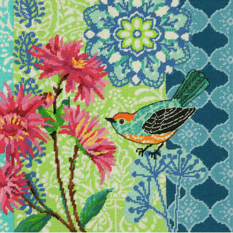 Blue Floral Tapestry Kit