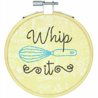 Whip It Embroidery Hoop Kit