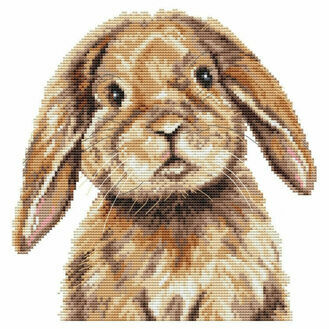 Bunny Cross Stitch Kit by Martha Bowyer