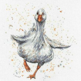 Daphne The Duck Cross Stitch Kit by Bree Merryn