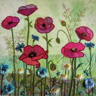 Poppy Meadow Embroidery Kit