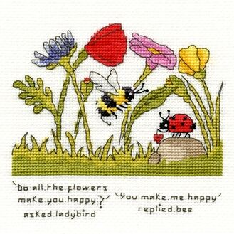 You Make Me Happy Cross Stitch Kit