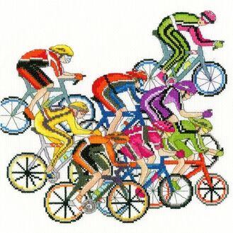 Cycling Fun Cross Stitch Kit