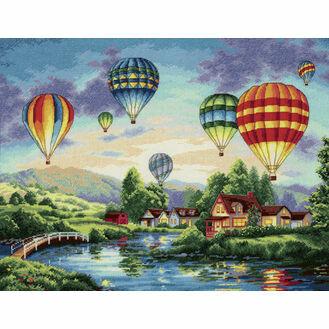 Balloon Glow Cross Stitch Kit