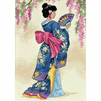 Elegant Geisha Cross Stitch Kit