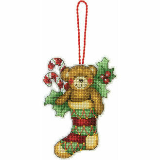Bear Ornament Cross Stitch Kit