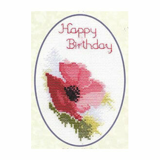Poppy Greetings Card Cross Stitch Kit