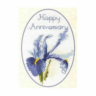 Iris Cross Stitch Card Kit